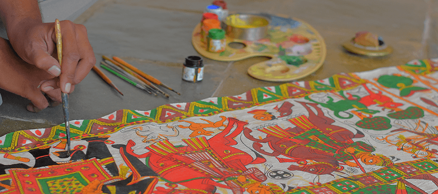 Phad Painting Demonstration